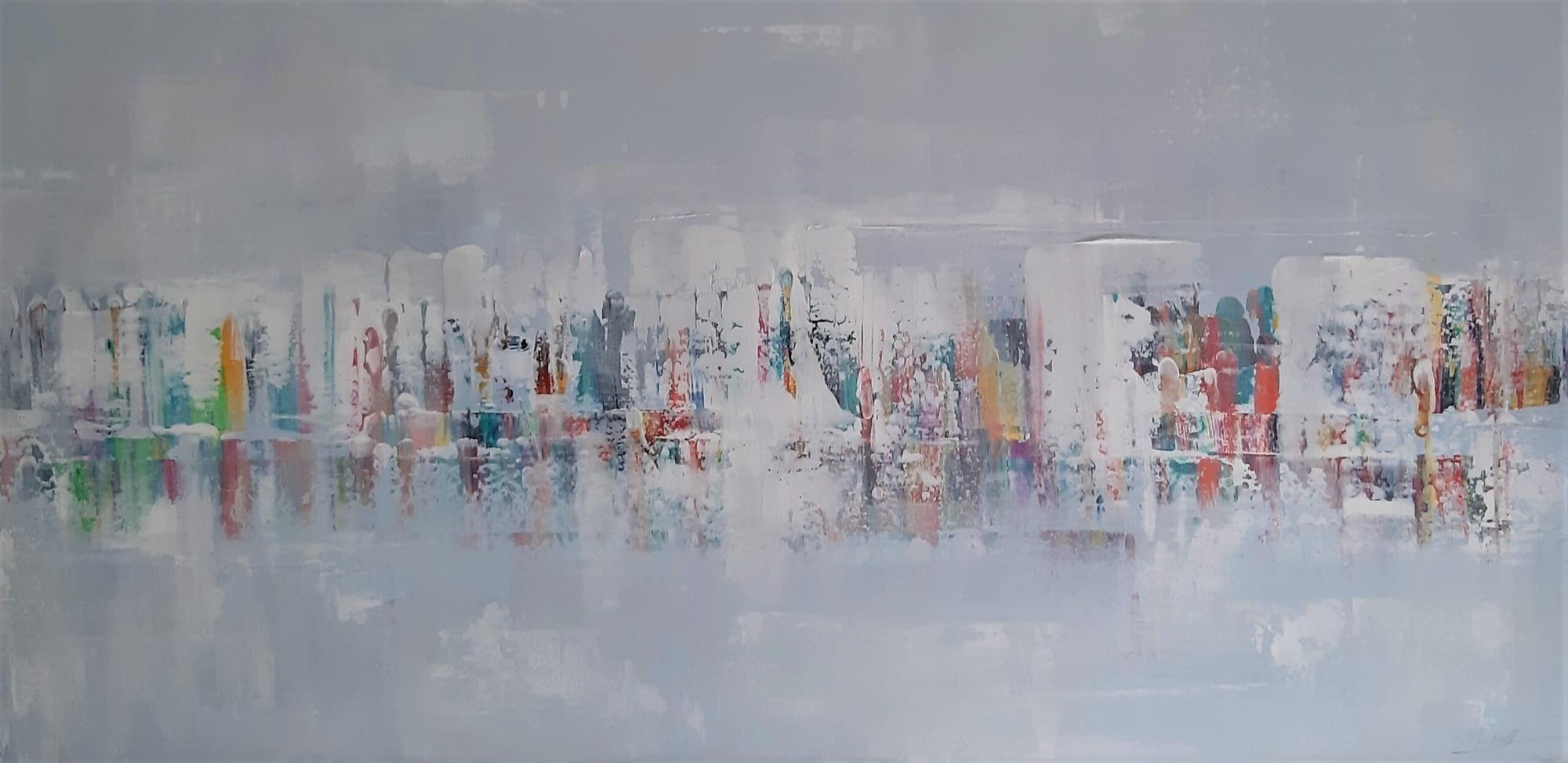 EJ Macdonald Art - Delhi Scenes painting
